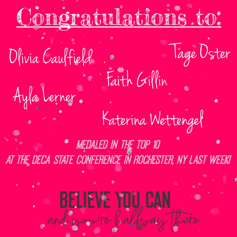 Congratulations to those who won Top 10 at the DECA State Conference!