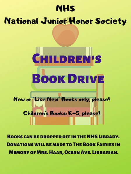 NHS Children's Book Drive