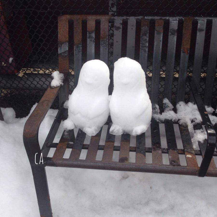 Snow Peeps in Town