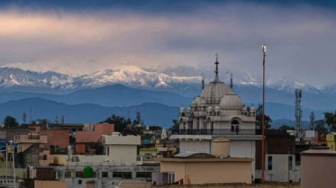 The Himalayas have become visible in parts of India for the first time.