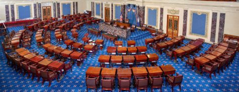 The United States Senate chamber. Here, senators have repeatedly violated the trust of the American people by refusing to adhere to the basic principles of trustworthiness and transparency.
