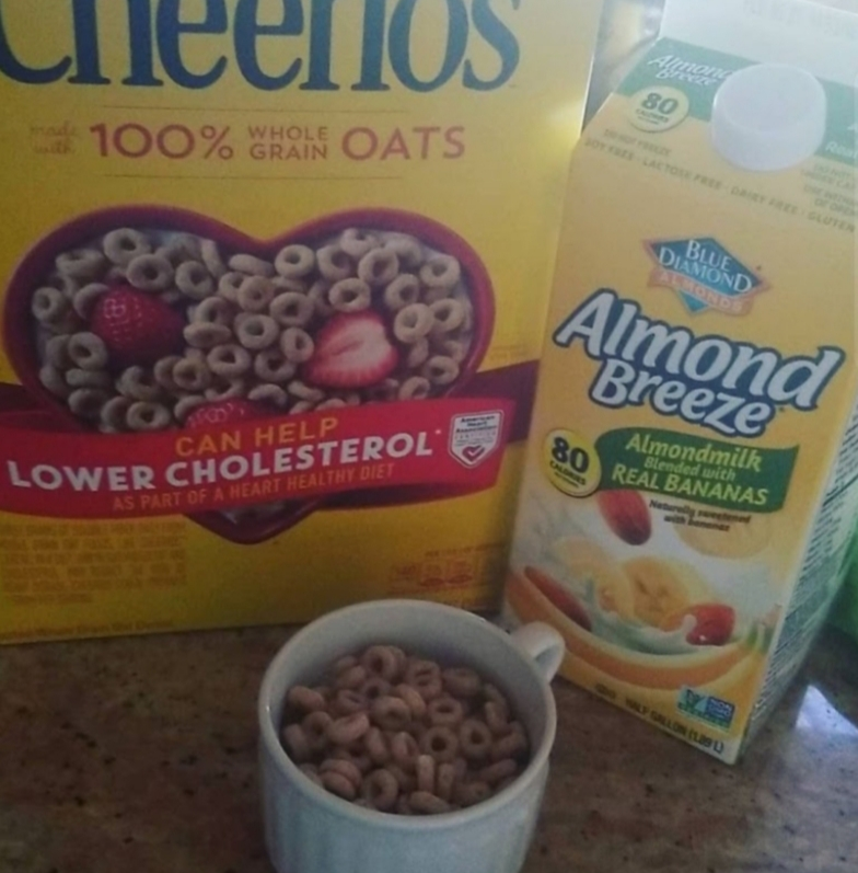 During my 10-day adherence to a vegan diet, I also tried cheerios with banana almond milk
