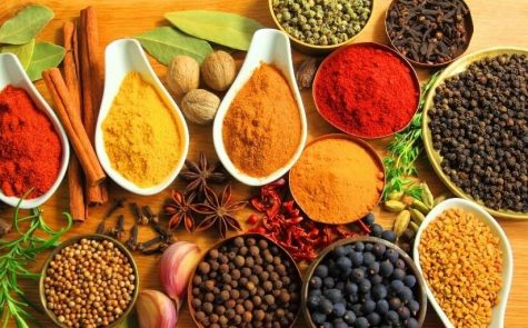 Spices such as cinnamon, turmeric, sage, and cayenne can be incorporated into dishes for every meal to add nutritional and savory benefits.